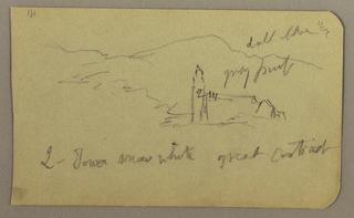 Drawing, Church, range, February 1890