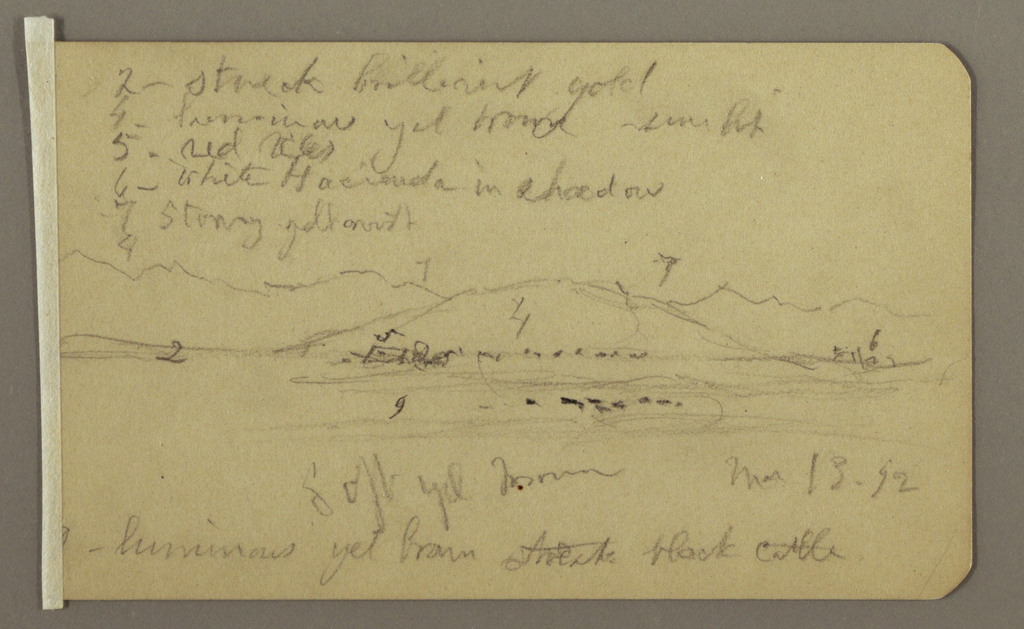 Drawing, Mountain Landscape, March 13, 1892