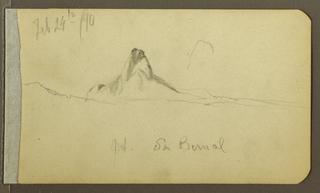 "Drawing, ""Mt. San Bernal"", February 1890"