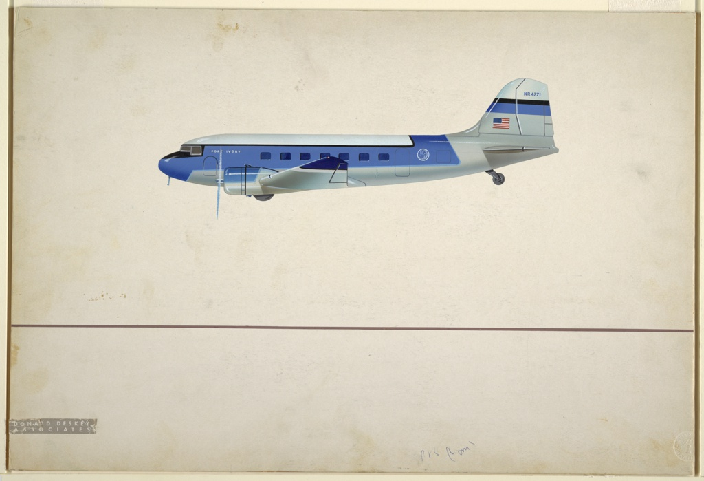 Drawing, Design for Port Ivory Private Airplane