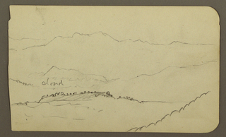 Drawing, Ranges; Verso: Mountain, 1890–93