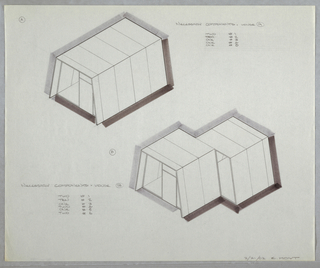 Drawing, Design for Modular House, February 21, 1962