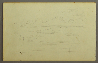 Drawing, Clouds, possibly 1844