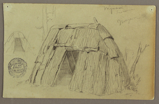 Drawing, Two Indian Hut