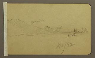Drawing, Mountain Landscape, April 1892
