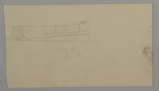 Seascape drawing depicting an iceberg at top left of sheet.