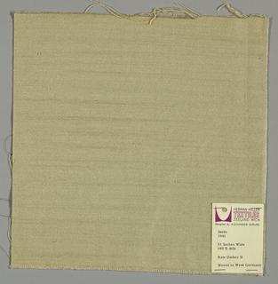 Plain weave in beige.