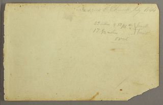 Verso: Artist's signature, notations