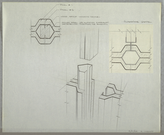 Drawing, Design for Modular Wall L, February 21, 1962