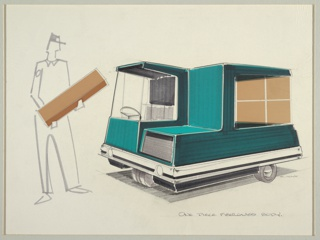 Drawing, Design for Utility Vehicle with One-Piece Fiberglass Body