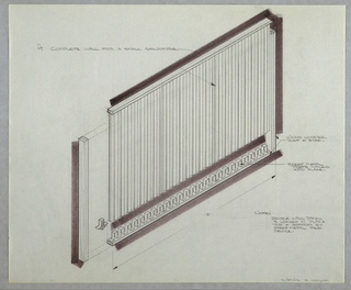 Drawing, Design for a Modular Wall, February 29, 1962