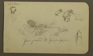 Drawing, Figures; Verso: Mountains, hut, figure, 1890–93