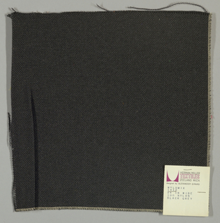 Plain weave with black warp and gray weft.