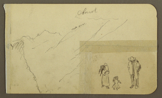 Drawing, Mountain; Verso: Mountains, donkey, 1890–93