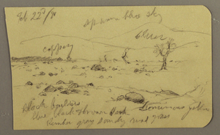 Drawing, Landscape, February 22, 1890