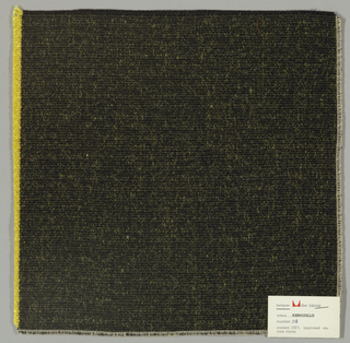 Warp-faced plain weave in black and yellow. Warp is comprised of black threads while the weft is made up of heavy yellow yarns. Number 251.