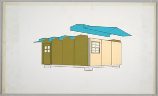 Drawing, Design for Prefabricated House