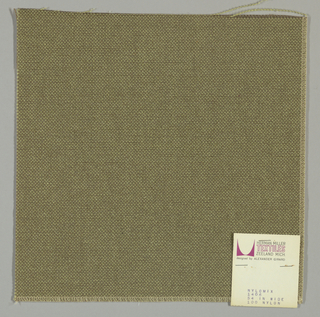 Plain weave with gray-brown warp and light green weft.