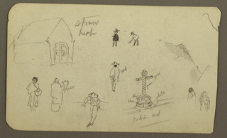 Drawing, Figures, church; Verso: Figure; landscape, 1890–93