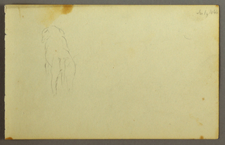 Drawing, Animal, from the back, 1844