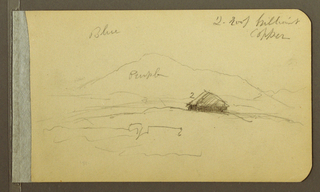 Drawing, Mountains, 1890