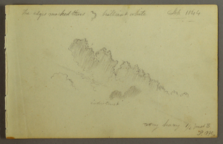 Drawing, Cloud study, 1844