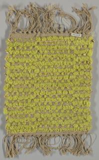 Yellow-green and natural textured sample; reversible.