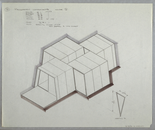 Drawing, Design for Modular House, March 3, 1962