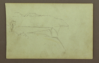 Recto: Falls shown from the American bank under cloudy sky. 