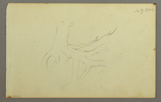 Drawing, Tree roots, 1844