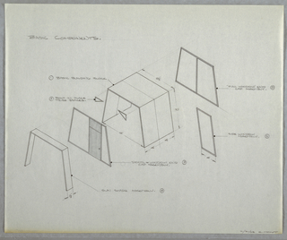 Drawing, Design for Components for, February 21, 1962