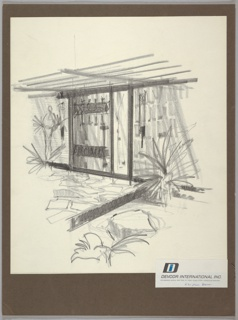 Drawing, Design for Entryway for Prefabricated Fiberglass House