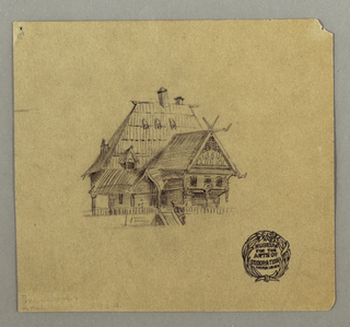 Drawing, Swiss Style House, possibly 1868