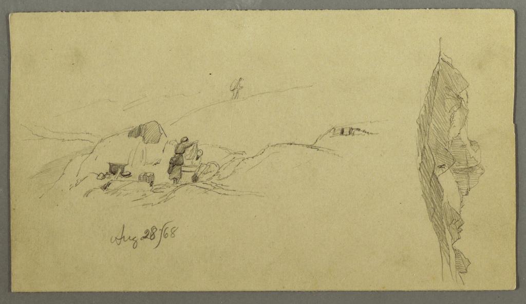 Verso: Glaciers (9/4 & 8/28/1868)