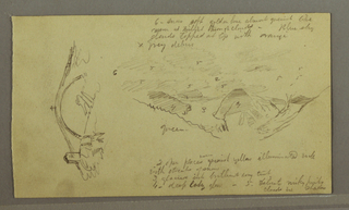 """Verso: Houses Tucked in a valley """"near Macugnaga"""" (Sept. 11, 1868)"""