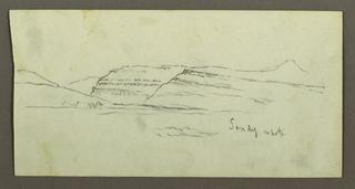 Verso: Valley Side, Rock Ledge