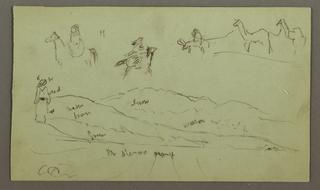 Verso: Tent, Mountain Range, Mirage