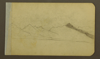 Drawing, Plain, hill, town; Verso: Mountain Range, 1889