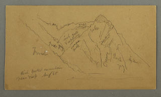 Verso: Mountains from the Valais, pennine Alps, House Woman from the Back