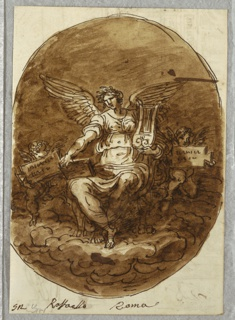 Drawing, Personification of Poetry, After Raphael, 1813–18