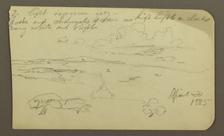 Drawing, Landscape; Verso: Church, April 1885