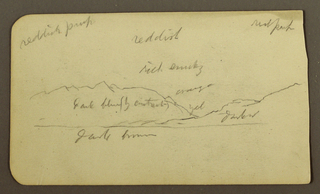 Drawing, Mountain Landscape; Verso: Inscriptions, 1885
