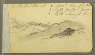 Drawing, Hills; Verso: Head, 1889