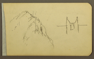Drawing, Mountain Side, turret; Verso: Mountain Side, 1889