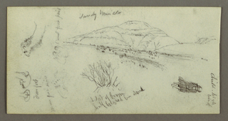 Verso: Rolling Hills with Shrubery, Figure