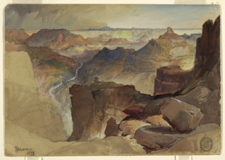 Drawing, View from Powell's Plateau, Grand Canyon, Colorado