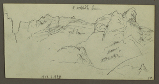 Verso: Rugged Side of a Valley