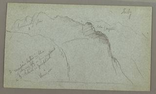 Verso: Mountain Ridges