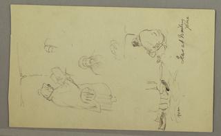 Drawing, Jews at the Wailing Wall, Jerusalem, April 1868