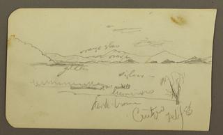 Drawing, View Near Lake Shore, Cuitzeo; Verso: view near Lake Ahore, Cuitzeo, February 1885
